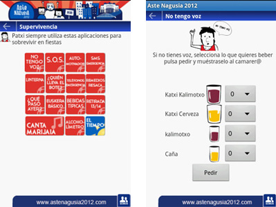 aplicación móvil aste nagusia 2012